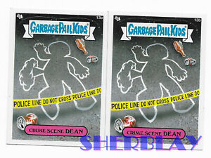2X-2012-Topps-Garbage-Pail-Kids-Brand-New-Series-1-13b-CRIME-SCENE-DEAN-Cards