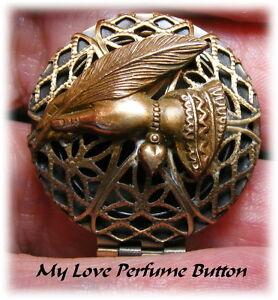 My Love Modern Perfume Locket Button