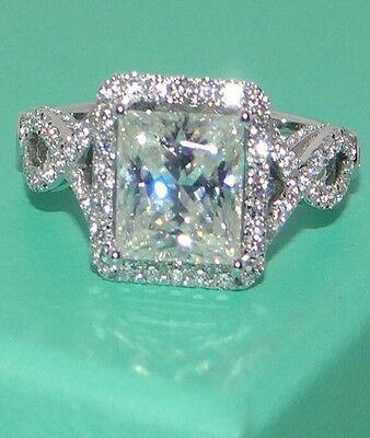Size 5-11 Handmade Women's White Sapphire 925 Sterling Silver Wedding Ring