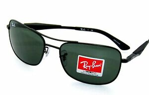 d5451410f5 RAY BAN sunglasses 3515 MATTE BLACK GREEN 006 71 Rayban 61mm ...