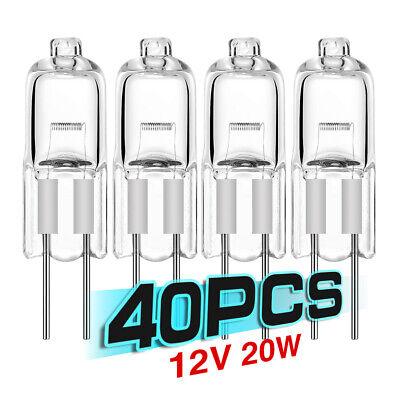 20PCS MINI WARM WHITE G4 HIGH LIGHT HALOGEN BULBS JC TYPE 20 WATT 12V CLEAR LAMP