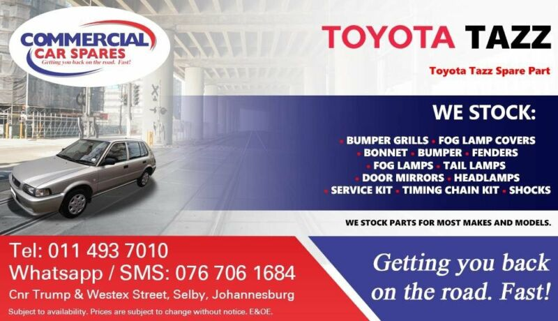 Toyota Tazz Parts and Spares For Sale