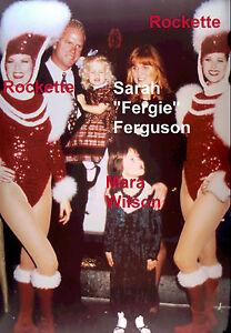 SARAH-FERGIE-FERGUSON-MARA-WILSON-NYC-ROCKETTES-RARE-UNSEEN-PRESS-5x7-PHOTO