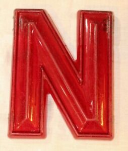 """Vintage 3D Red Theater Marquee Sign Letter /""""U/"""" 8-1//4/"""" x 10/"""" x 1-1//4/"""""""