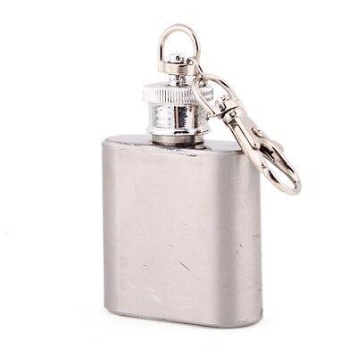 Mini Flasque Alcool Voyage 1oz Hip Flask Flacon Acier Inox Avec Porte-clés