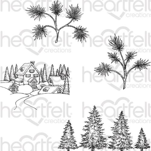 Heartfelt Creations Stamps ~ SNOWY PINE VILLAGE ~ HCPC3837