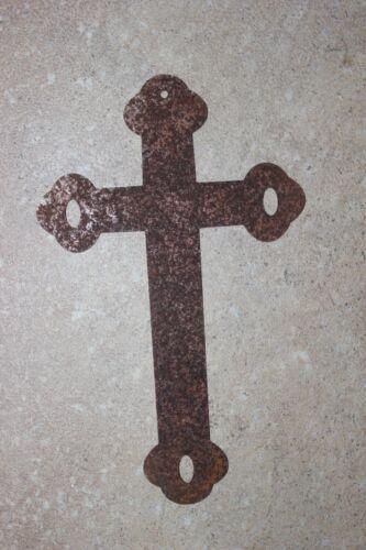 """Kreuz a Metall /""""Edelrost/"""" in 2 Größen erhältl.:17,5 x 10,5 o.12 x 7,5 cm"""