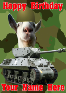 Image is loading Funny-Goat-j89-Military-Army-Tank-Fun-Cute-