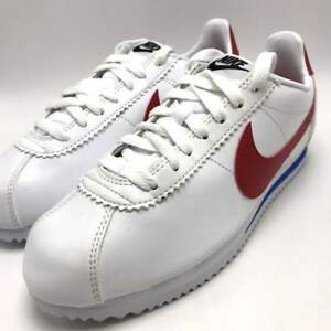 aa93f114748 Nike Classic Cortez Leather Women s Running Shoes White Varsity Red ...