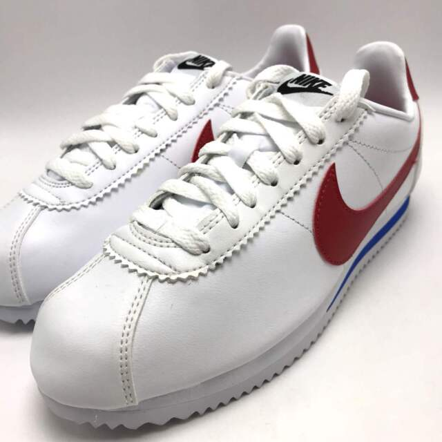 official photos 7b261 f904b Nike Classic Cortez Leather Forrest Gump White Varsity Red Sz 9.5 807471 103