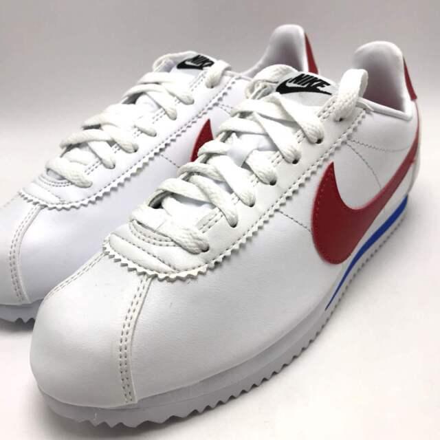 official photos 75078 77da0 Nike Classic Cortez Leather Forrest Gump White Varsity Red Sz 9.5 807471 103