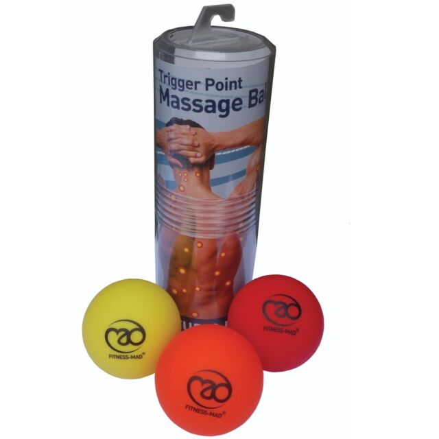 Fitness Mad Acupressure Trigger Point Relax Therapy Soft Massage Balls Set Of 3