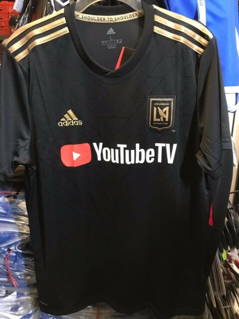 6135f0b0737 Frequently bought together. Los Angeles Club LAFC Adidas Stadium Home  Soccer Jersey