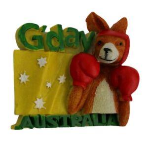 Magnet 3D Australia Boxing Kangaroo G'day Flag Fridge Australian Souvenir New