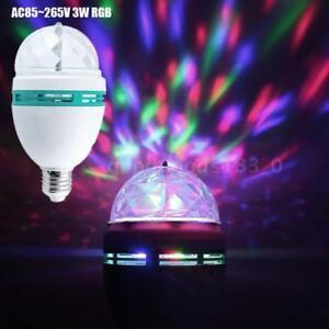 Détails Disco 3w Rgb M2o6 Lampe Ball Sur Lumière Led E27 Magic Party rCBxedo