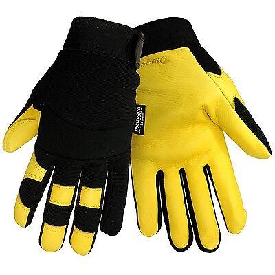 Deerskin Leather Insulated Fleece Lined Outdoor Winter Work Sports Gloves Medium