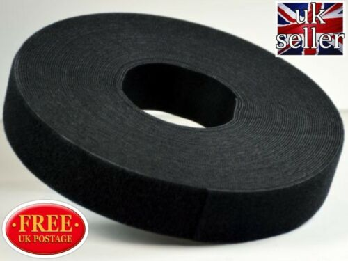 Velcro Gancho y bucle Uno-Wrap ® Flejado de doble cara 16mm X 1 metros en Negro