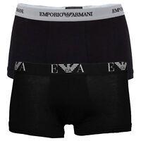 S M L XL, Authentic Men's EMPORIO ARMANI Underwear Boxer Trunks Underpants Black
