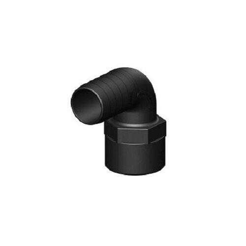 """Schlauchverbinder 90° Winkel mit Innengewinde schwarz 1 1//2/"""" aus Kunststoff"""