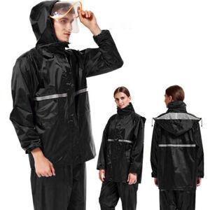 Adults Waterproof Jacket /& Trousers Packaway Set Rain Suit Mens Ladies Womens