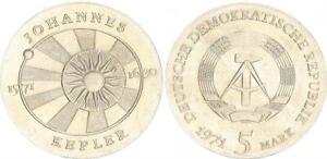GDR 5 Mark 1971 John Kepler Mint State