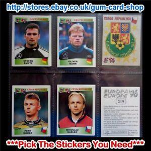 Panini-Europa-Europe-039-96-200-to-299-Black-Backs-Please-Select-Stickers