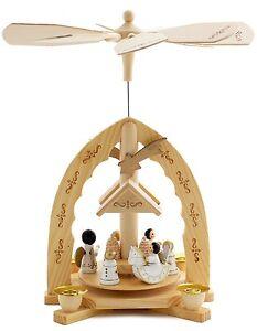 BRUBAKER-Christmas-Pyramid-12-034-039-Angels-039-w-Handpainted-Figures-Ltd-Edition