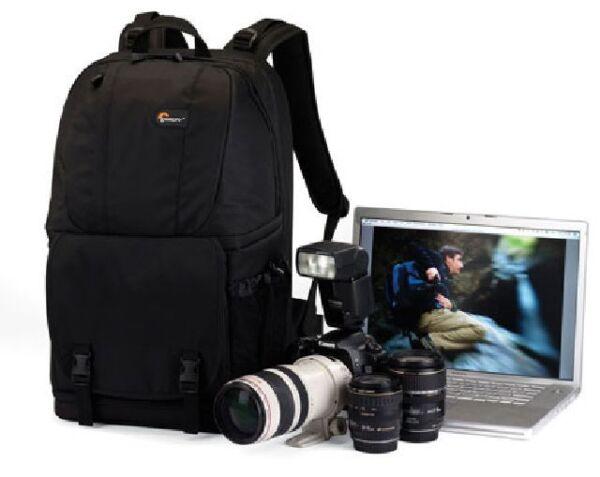 """(noir) Lowepro Fastpack 350 Digital Slr Camera Bag Sac à Dos Ordinateur Portable 17"""" Pure Blancheur"""