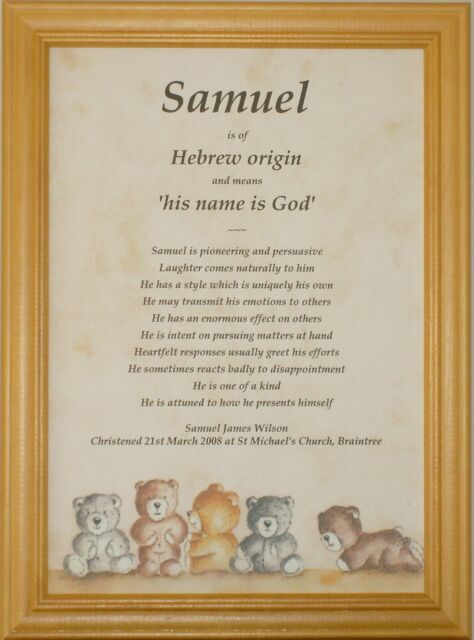 Baby /Child First Name Meaning Christening Baptism Gift