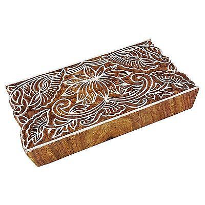 Indische Hand geschnitzte Textildruck Blöcke aus Holz Stoff Briefmarken 0914