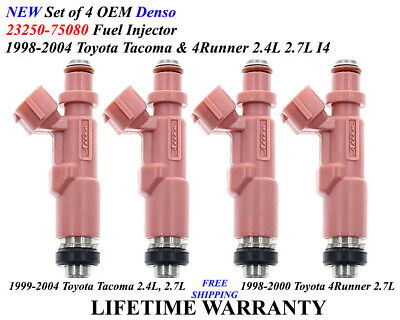 Single OEM DENSO Fuel Injector for 1999-2004 Toyota 4Runner//Tacoma 2.4//2.7L NEW