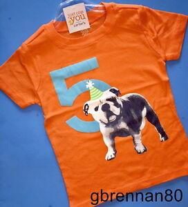 Image Is Loading NEW 5th Birthday DOG Baby Boys Shirt 5T