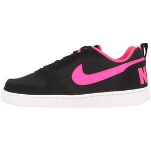 Nike-Court-Borough-Low-Gs-Scarpe-Sneaker-Nere-Fucsia-845104-006-Air-Max-FREE