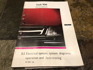 1984 1985 1986 saab 900 electrical \u0026 wiring diagrams service manualimage is loading 1984 1985 1986 saab 900 electrical amp wiring