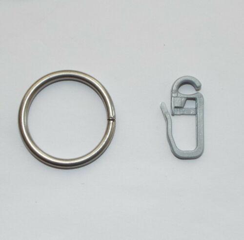 100 Gardinenringe chrom matt vernickelt Stahloptik für 16 20 mm Vorhangstange