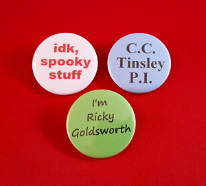 Details about 3 Buzzfeed Unsolved inspired badges set badge pack  Supernatural True Crime b