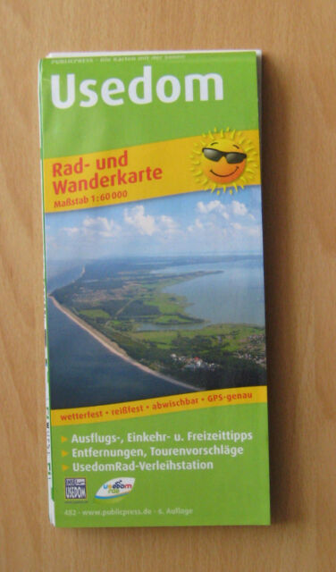 Rad- und Wanderkarte, Usedom, 1:60000, ISBN 9783899204827