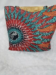 Rhinstone regalo mano mujeres africano a Bolso monedero mano moda bolso hecho Ankara 0ZXqn6fw