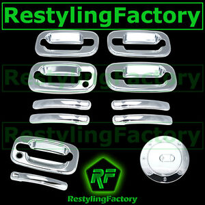 Chevy-Tahoe-Suburban-Chrome-4-Door-handle-W-O-PSG-KH-Tailgate-Barn-Gas-Cover