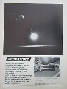 10/1971 Pub Schermuly Artifices Helicopter Pyrotechnics Fusees Flares French Ad Dwnphbib-07231348-688762815