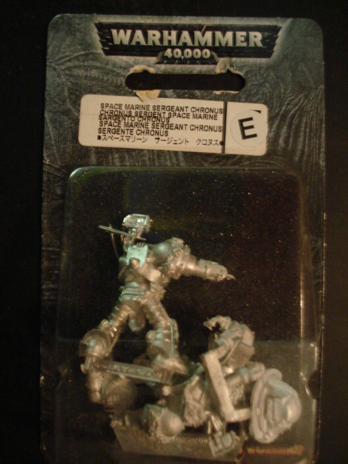 Warhammer 40k space marine ultramarin kommandanten sergeant chronus metall neue