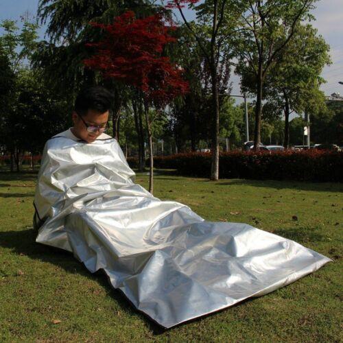 EMERGENCY SURVIVAL BIVY CAMPING HIKING SLEEPING BAG OUTDOOR REUSABLE WATERPROOF