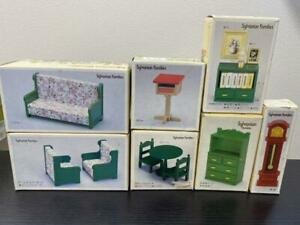 Sylvanian-Families-Green-Furniture-Post-Set-Vintage-Calico-Critters-Epoch-w-Box
