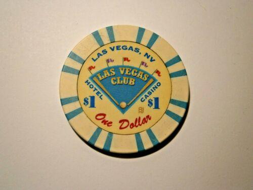 THE LAS VEGAS CLUB VINTAGE $1CASINO CHIP LAS VEGAS NEVADA WE COMBINE SHIPPING *