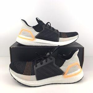 Adidas-UltraBoost-19-G27514-Men-s-Size-10-5-Black-Orange-White-Khaki-Trace-Cargo