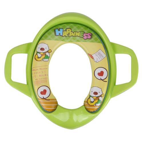 Baby Soft Padded Potty Training Toilet Seat With Handles Toddler Child Potty