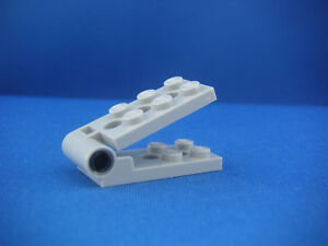 Lego-Plaque-charniere-2x4-Neuve-Light-Bluish-gray-Hinge-plate-NEW-REF98285-98286
