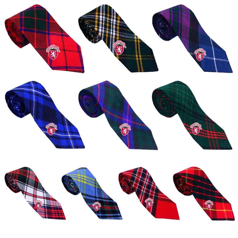Men's Scottish Neck Ties For Kilt Various Clan Tartan Acrylic Wool/Kilt Neck Tie