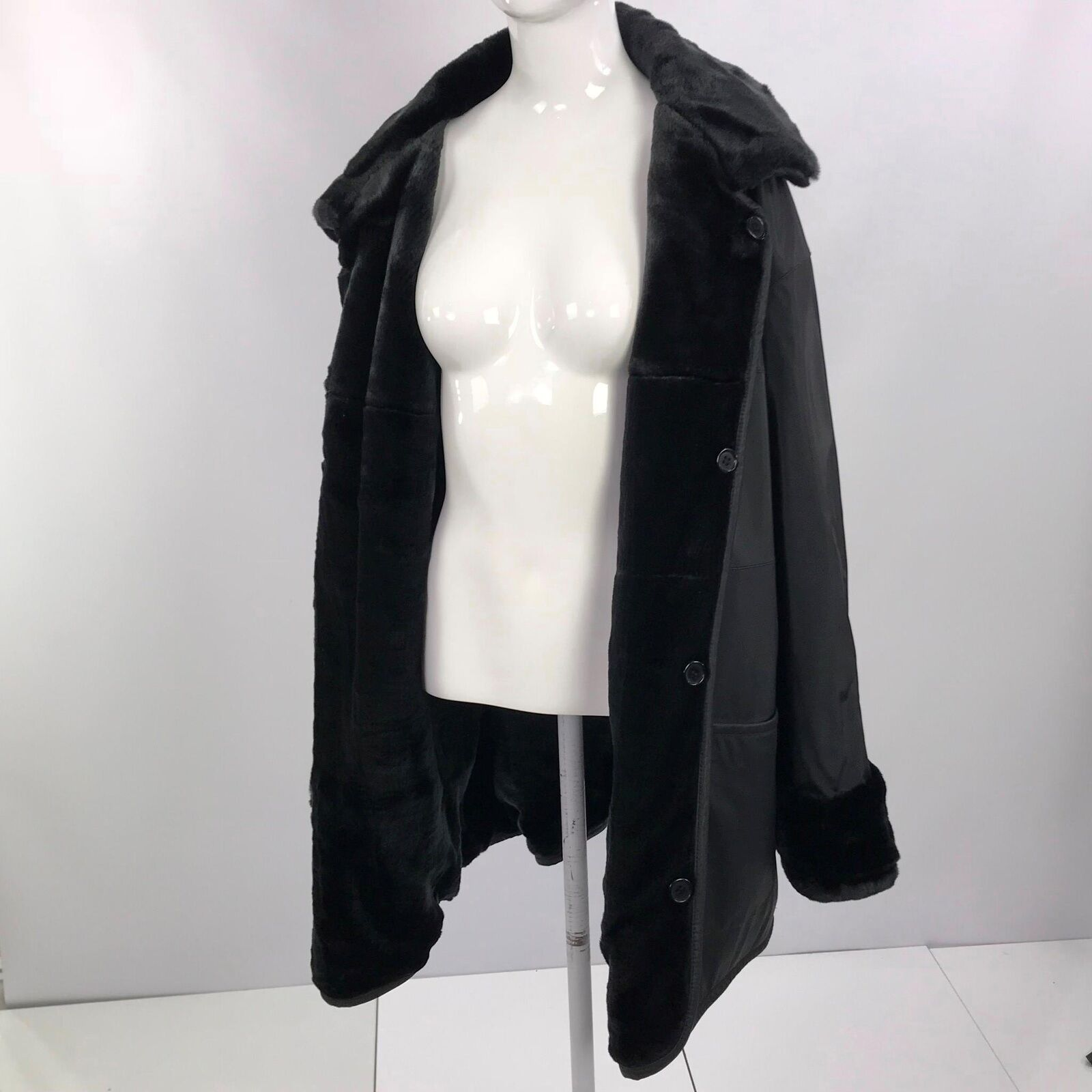 Outbrook Mujer 2X Reversible Abrigo  Mink Faux Fur bolsillos laterales sólido para todo clima  hasta un 65% de descuento
