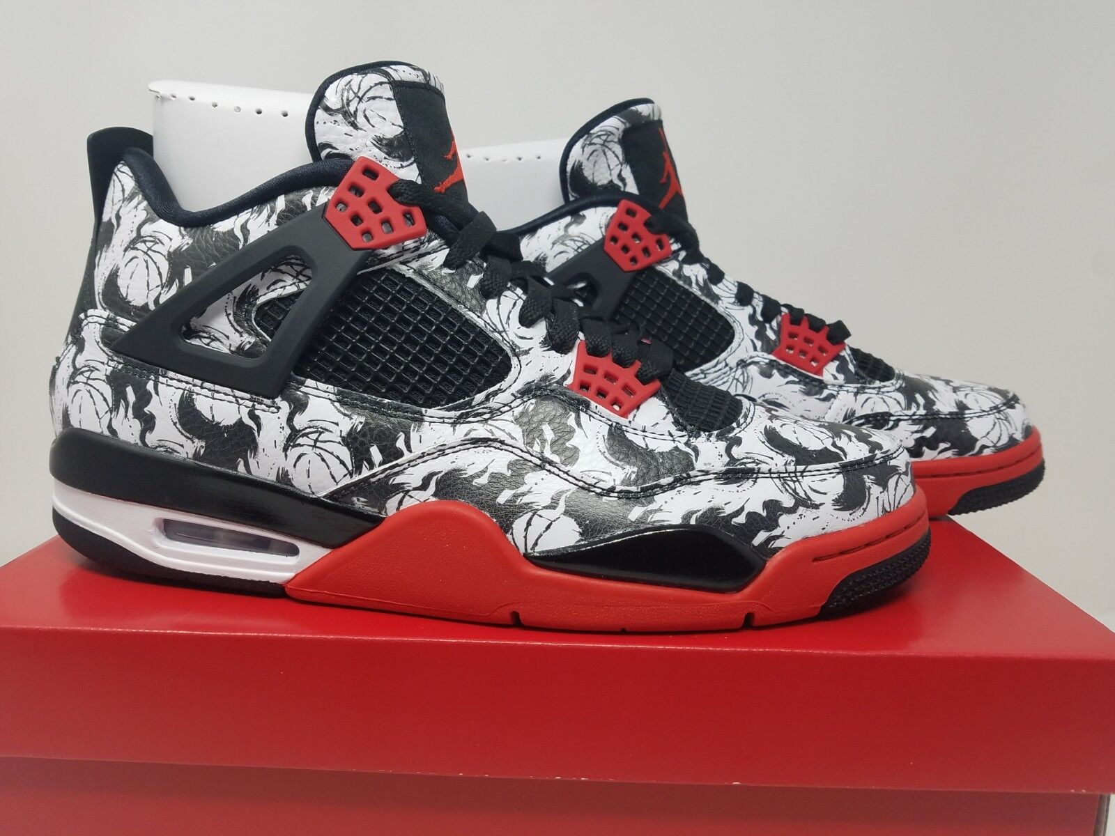 4e86d43a7c7 Nike Air Jordan Jordan Jordan 4 Retro Tattoo SNGL DY Size 11 Mens White  Black Red BQ0897 006 805a34